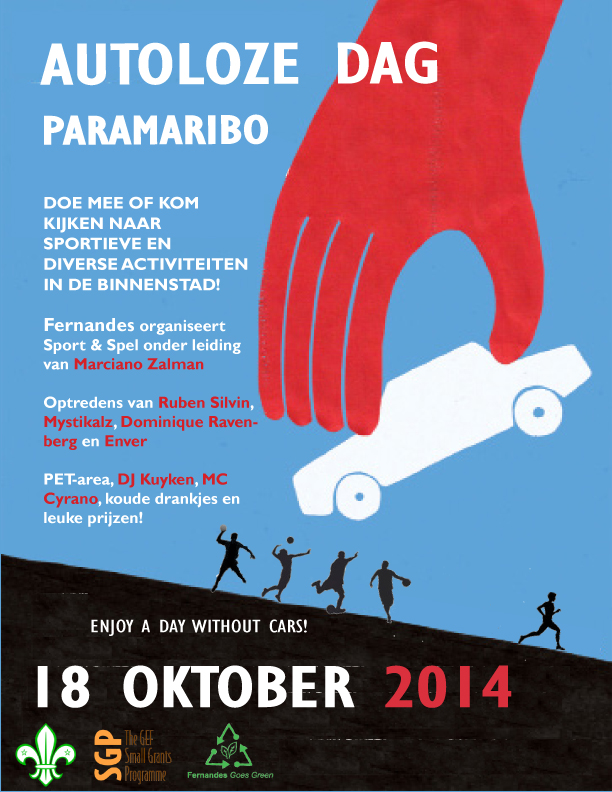 Autoloze Dag Paramaribo programma Fernandes Goes Green