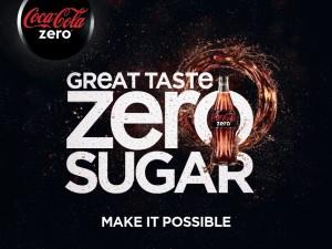 Coca Cola Zero great taste zero sugar