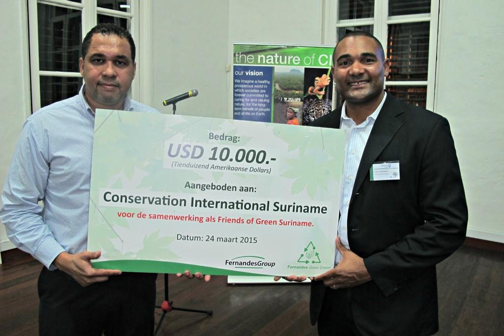 Conservation International Suriname cheque