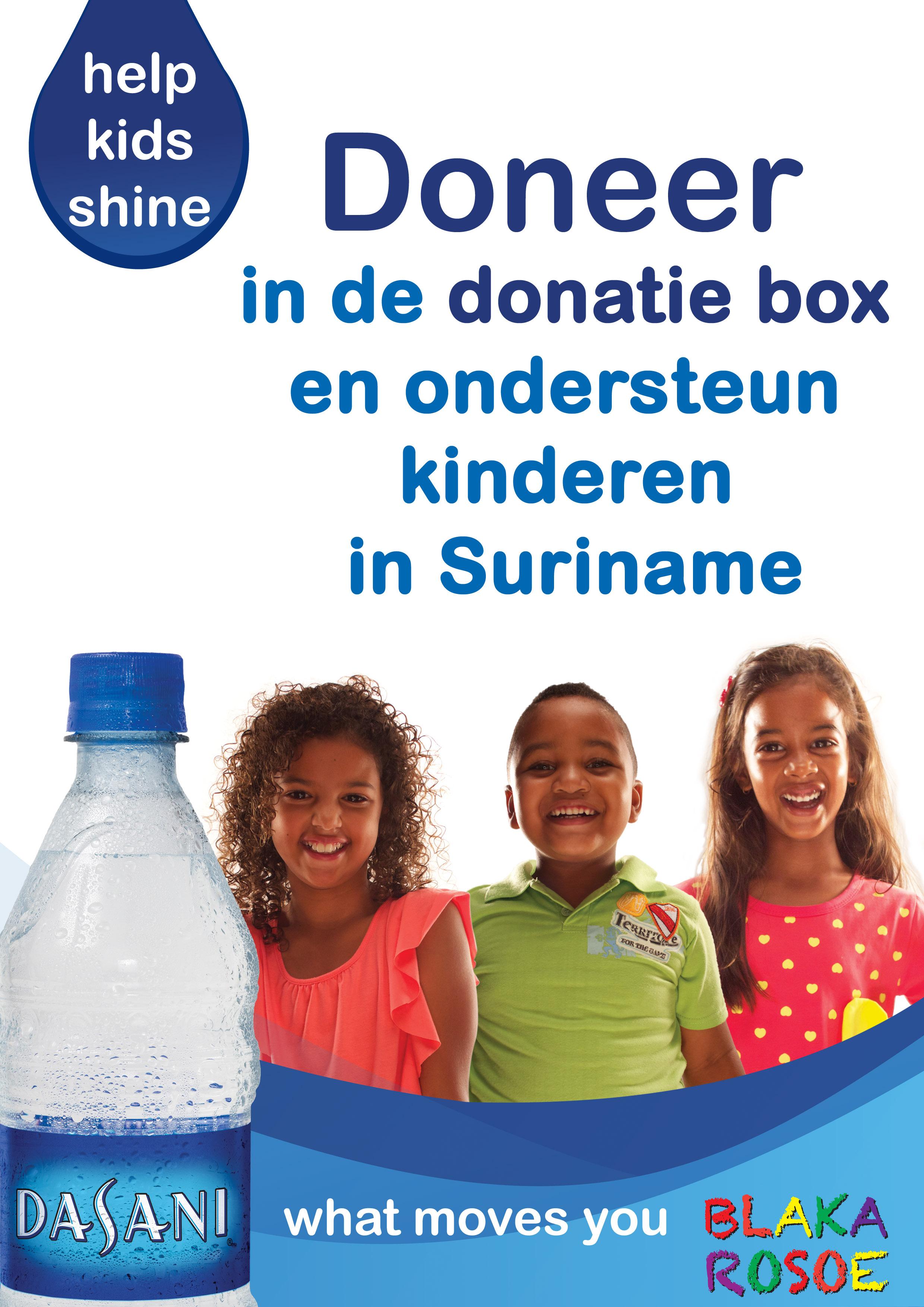 Dasani Help Kids Shine donatie
