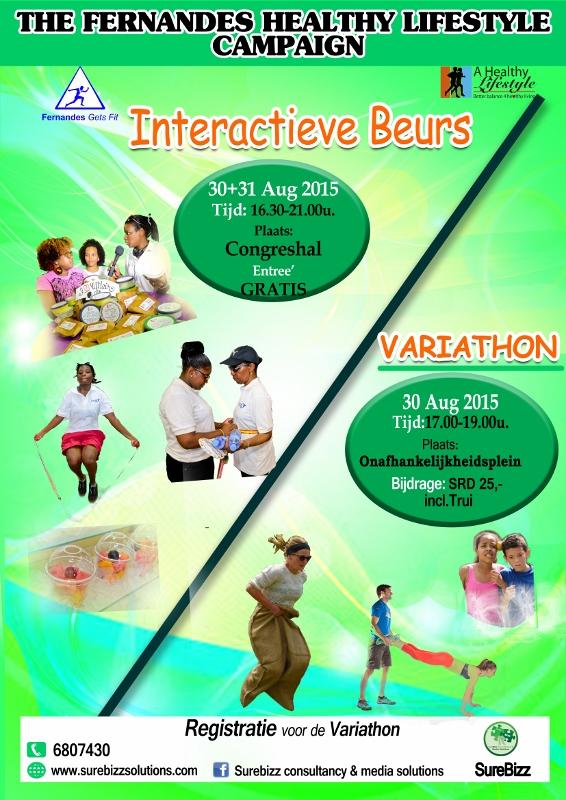 Fernandes Healthy Lifestyle Campaign Beurs Variathon