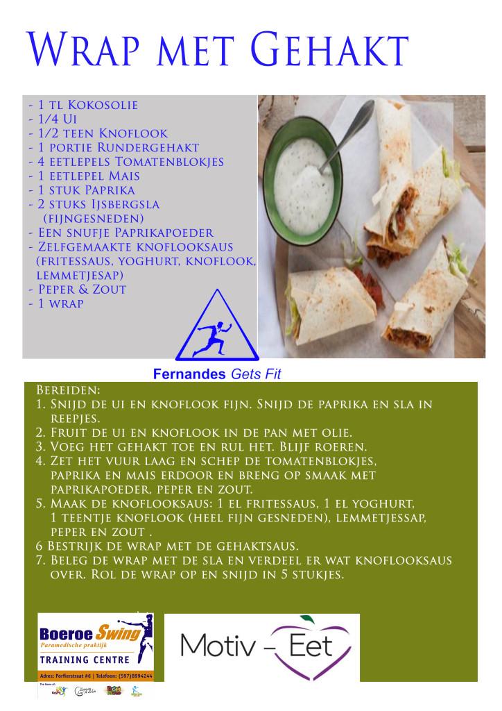 BoeroeSwing Motiv-Eet Wrap recept Gehakt
