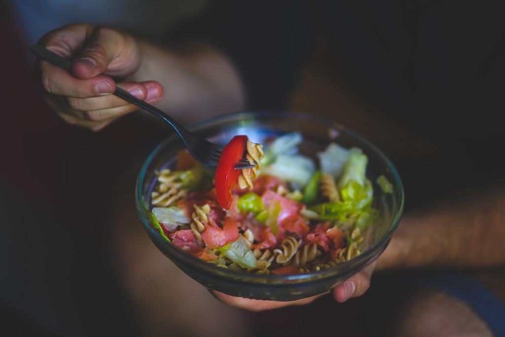 Pasta salade groente