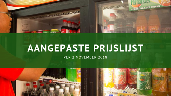 Fernandes Bottling Company prijsaanpassing 2 november